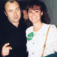 Valerie with Phil Collins