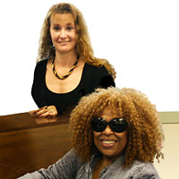 Valerie with Roberta Flack